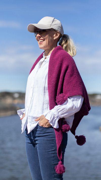 Bella sjal i cerise pink fra Dehn Design AS