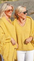 Daisy sjal og Ella genser - Gul