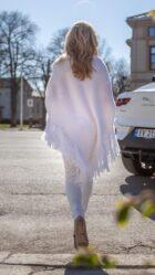 Elsa sjal hvitt