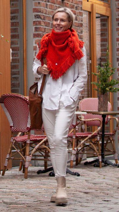 Nikki sjal/skjerf i oransje