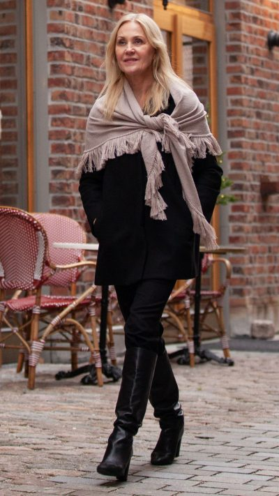 Olivia sjal i beige