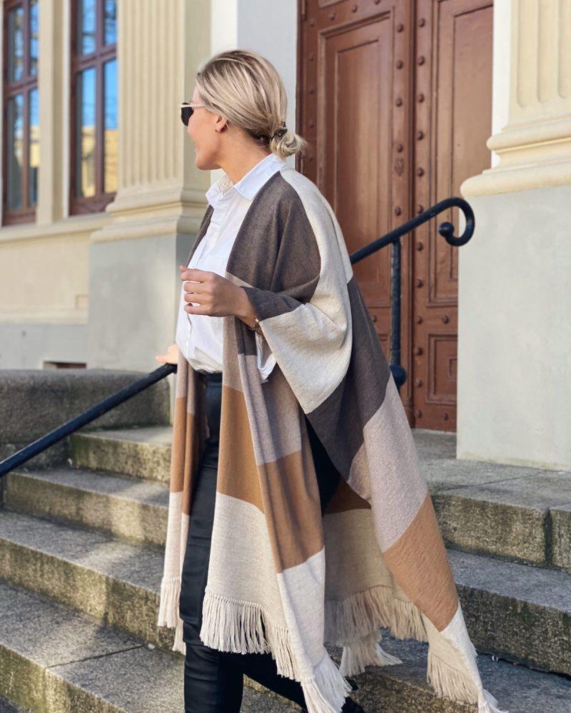 Maya sjal med frynser - Dehn Design