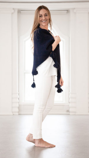 Bella sjal - Marineblå